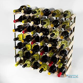 Klassieke 42 fles dennenhout en gegalvaniseerd metalen wijnrek klaar gemonteerd