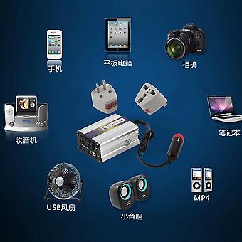 200w USB 24v Dc כדי AC 220v רכב אוטומטי ממיר מתאם מהפך כוח
