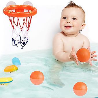 楽しいバスバスケットボールのおもちゃフープ&子供のための3つのボールとボールセット