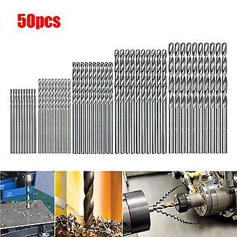 50 Pcs Hss Haute Vitesse Acier Construction Foret Set Outil 1 / 1.5 / 2 / 2.5 / 3mm