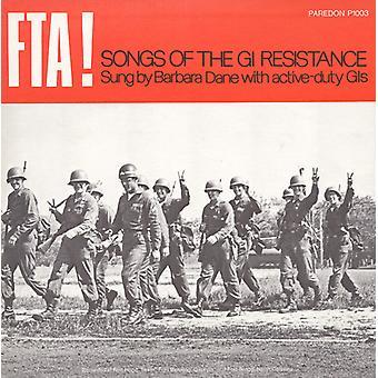 Barbara Dane - Fta! Songs of the Gi Resistance [CD] USA import