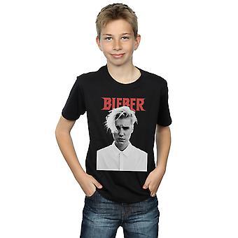 Justin Bieber Boys White Shirt T-Shirt