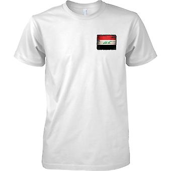 Irak Grunge Grunge effekt flagg - barna brystet Design t-skjorte