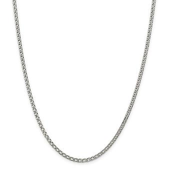 925 Sterling Silver Solid Polished Lobster Claw Closure 3.3mm Rambo Chain Necklace - Lobster Claw - Length: 18 to 24