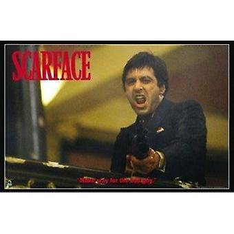 Scarface Bad Guy Poster Poster Print