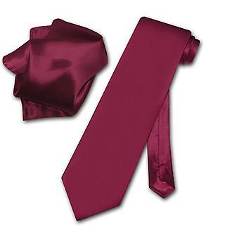 Biagio 100 % Seide solide Krawatte & Taschentuch Männer Hals Krawatte Set