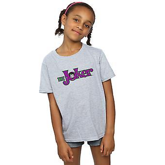 DC Comics ragazze il Joker testo Logo t-shirt