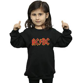 AC/DC meninas angustiado moletom logotipo vermelho
