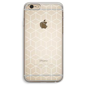 iPhone 6 Plus / 6S Plus Transparent Case (Soft) - Cubes black and white