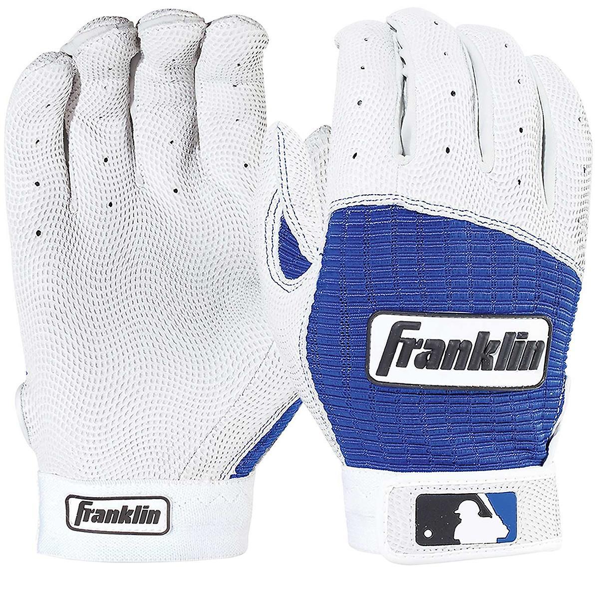 Franklin voksen Pro klassisk MLB Batting hansker - Pearl/Royal