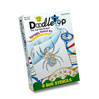 Crafty Kids Doodle Top Squiggly Stencil Kit