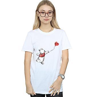 Disney naisten Nalle Puh ilmapallo poikaystävä Fit t-paita