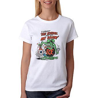 Rat Fink I Caught The Eyeball Women's White T-shirt