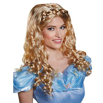Cinderella Movie Disney Princess Ella Blonde Story Book Week Women Costume Wig