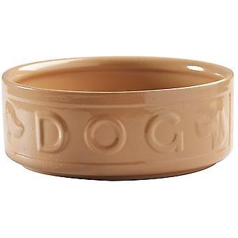 Mason Cash Pod Dog Bowl Yellow Ceramic Cane Lettered 130 mm