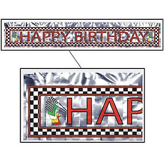 Joyeux anniversaire Racing Bannière Mettalic