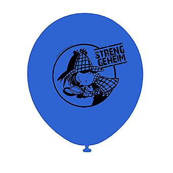Detective detective Flo globo 8 pieza niños cumpleaños tema partido partido cumpleaños