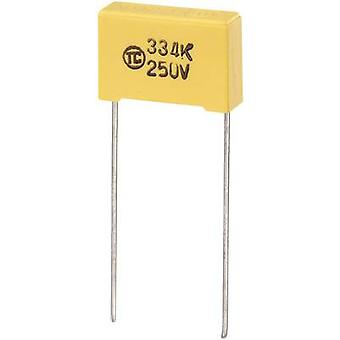 1 pc(s) MKS thin film capacitor Radial lead 0.047 µF 630 V DC 5 % 15 mm (L x W x H) 18 x 6 x 12 mm