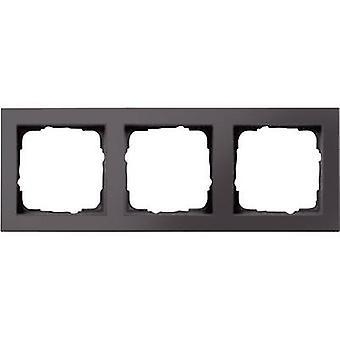 GIRA 3 x Frame E2, standaard 55 antraciet 0213 23