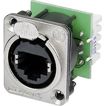 Neutrik NE8FDV YK YK NE8FDV RJ45 datos conector EtherCon D Series 8P8C RJ45 enchufe, níquel recta
