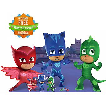 PJ Masks Group Pose with Catboy Gekko Owlette Lifesize Cardboard Cutout