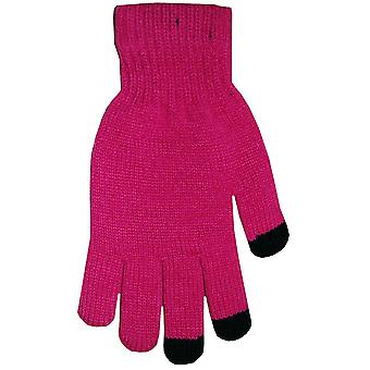 Boss Tech BTP-GLV-HTPINK Knit Touchscreen Gloves, Texting Gloves, Tech Gloves (Hot Pink)