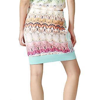 אדידס מקוריות נשים בורבוטרי Zip מלא 3 מסלול חצאית פסים-Multi