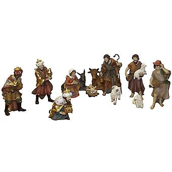 Nativity beeldjes 12 St. Instellen van kunsthars Nativity beeldjes polyresin 12 cm