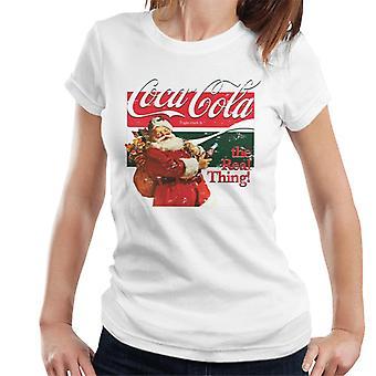Coca Cola die reale Sache Weihnachten Damen T-Shirt