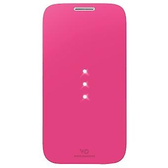 White Diamonds 152224 Crystal Booklet voor Samsung Galaxy S4 Mini Roze