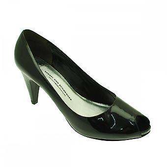 Kennel Und Schmenger Patent Peep Toe Court Shoe With Platform
