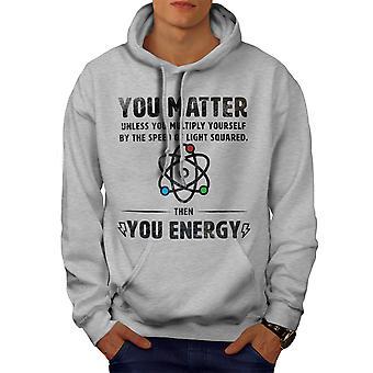 Fysiikka Tiede Funy Miehet GreyHoodie | Wellcoda, mitä sinä olet?