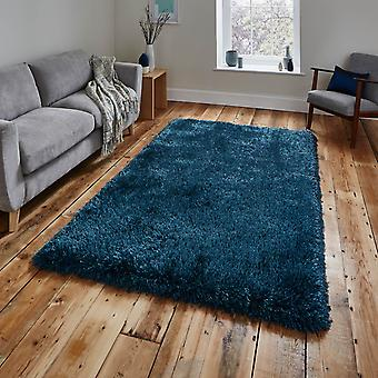 Montana Shaggy Rugs In Steel Blue