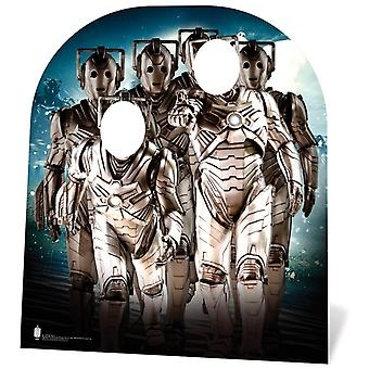 Cyberman Army Barn Størrelse Doctor Som Papp Cutout / Standee Stand-in / Standee
