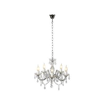 Lucide Arabesque Cottage Round Acrylic Transparant Chandelier