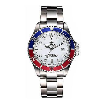 Reginald Mens Homage Watch Silver White Blue Red Man Smart Watches Designer Gift Present