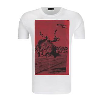 Tee Shirt Coton Printé Logo S71gd0720  -  Dsquared2