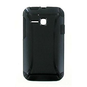 5 Pack -Quality One Hard Cover Case with Soft Gel for ALCATEL OT-5020A One Touch Evolve - BLACK