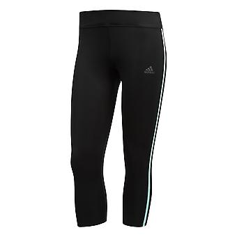adidas Response 3/4 Womens Running Fitness Capri Tight Black/Mint