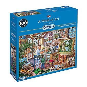 Gibsons Work of Art Jigsaw Puzzle (1000 Pieces)