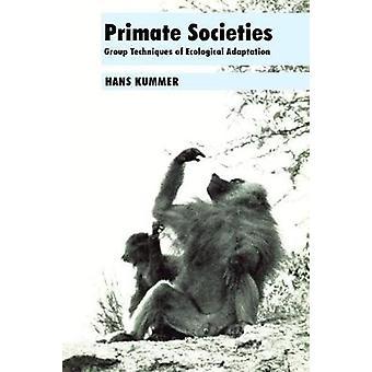 الرئيسيات المجتمعات مجموعة تقنيات التكيف الإيكولوجي كومر & هانس