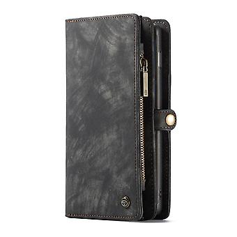 CASEME Samsung Galaxy S10 Retro leather wallet Case-grey