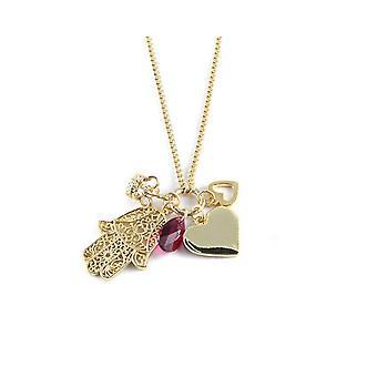 Ettika - kraag ketting charme van liefde Crystal en goud geel