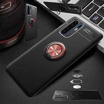 Huawei P30 Pro magnetiske metall ring ultra slim tilfelle sort / pink veske coveret tilfeller beskyttelse