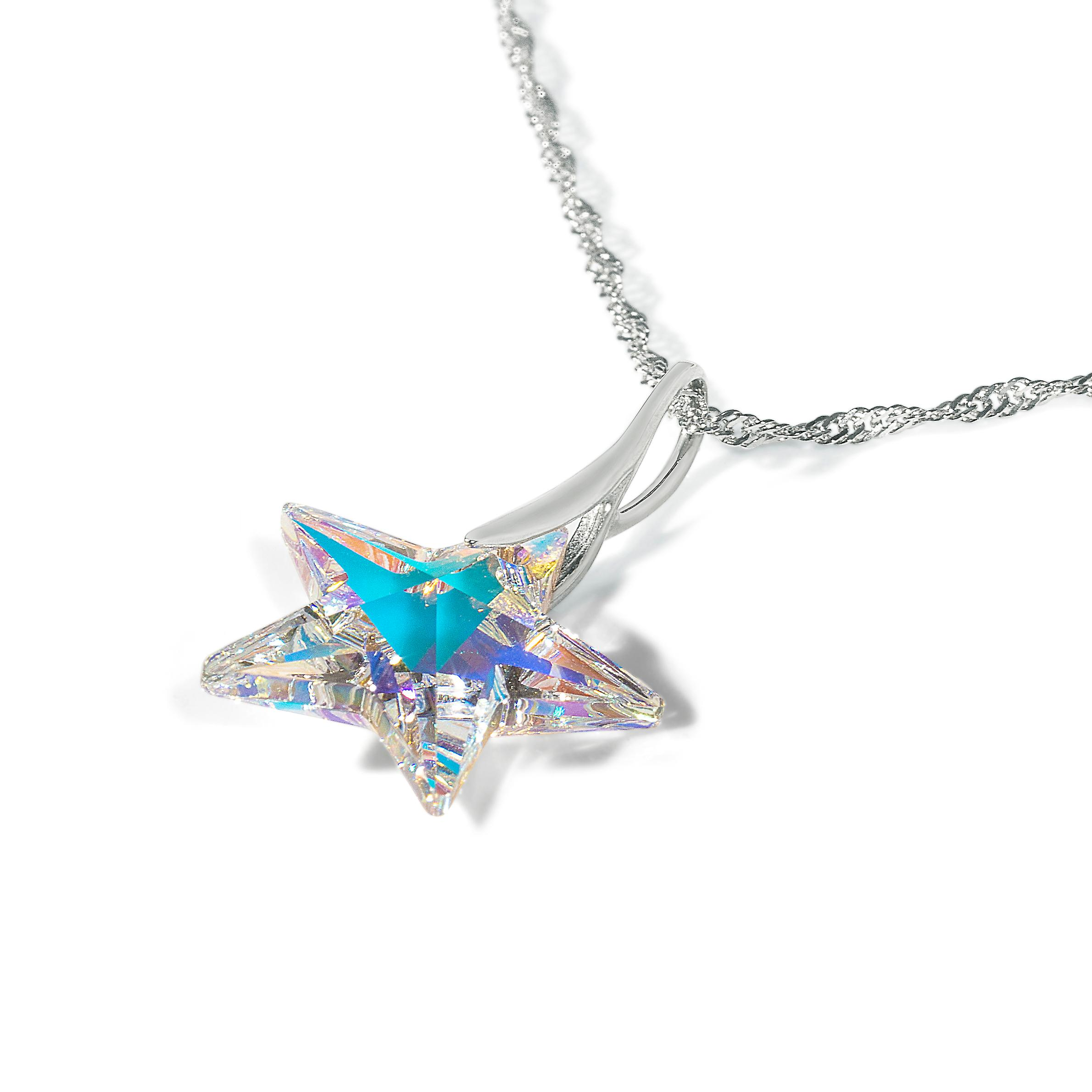 Ah! Jewellery Aurore Boreale Star Necklace in Sterling Silver