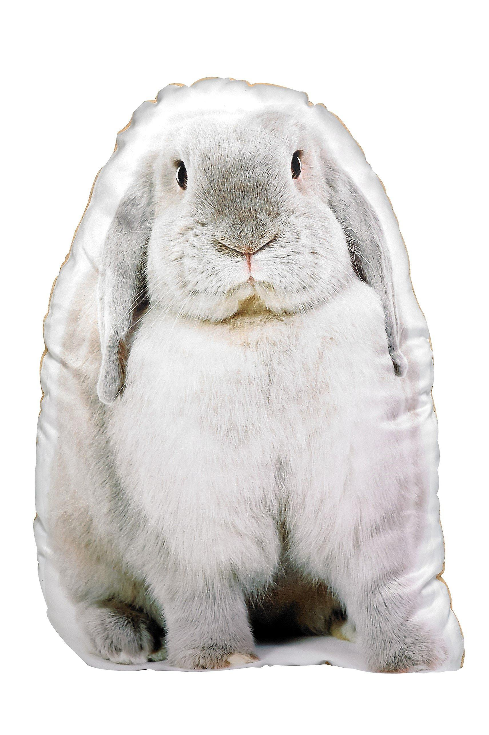 Adorable grey rabbit shaped cushion