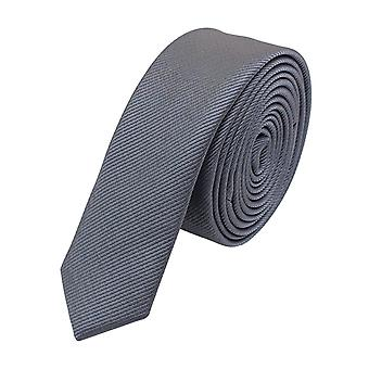 Slips Tie Ties Binder Narrow 3cm Silver Grey uni Fabio Farini