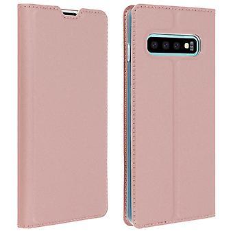 Slim Flip plån bok fall, Business-serien för Samsung Galaxy S10 plus-Rose guld