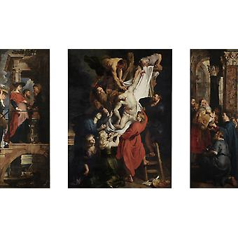 Descent from the Cross, Peter Paul Rubens, 60x35cm