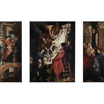 Descente de la Croix, Peter Paul Rubens, 60x35cm